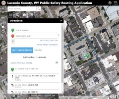 Public Safety Routing Application Map Image